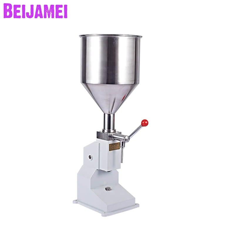 Beijamei nouveauté Machines de remplissage manuelles poignée pression pâte jus miel alimentaire Machine de remplissage liquide emballage de remplissage