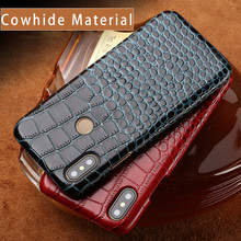 Genuine Leather High-grade leather for xiaomi mi 9 case Business Solid color protective redmi 4x note4 note4X