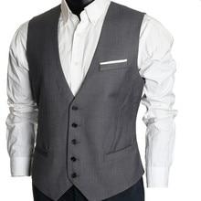 The latest style design men vest good quality men's wedding tuxedos vest simple handsome groom best man suits vest