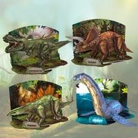 X026 3D Animal Puzzles Dinosaurs Triceratops Tyrannosaurus Rex DIY Paper Model Children Educational Toys Hot Sale