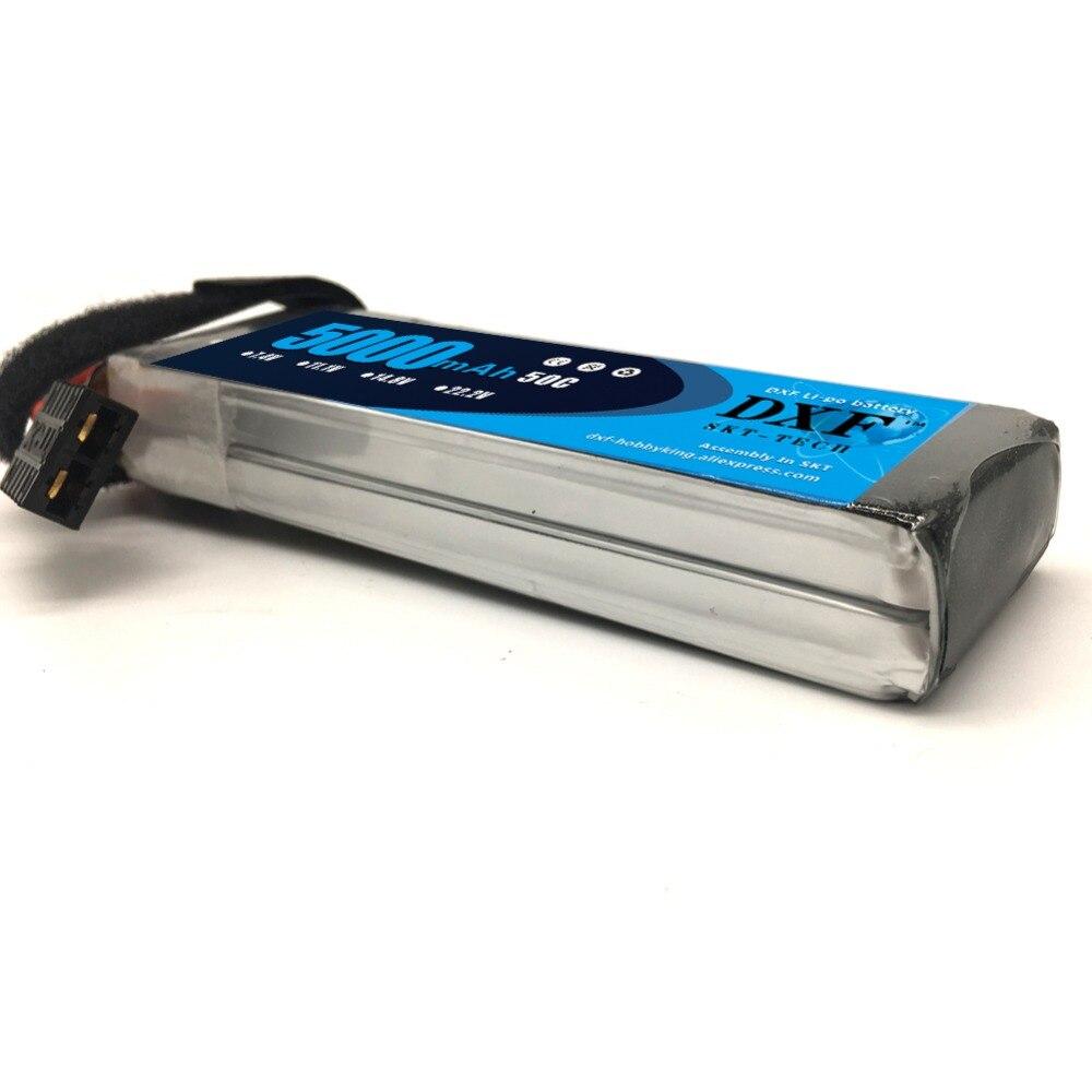 DXF RC Lipo batterie 2 s 7.4 V 5000 mah 50C 100C 2 S Bateria pour 1/8 1/10 passe-temps de voiture pour Traxxas Slash 4x4 Bandit