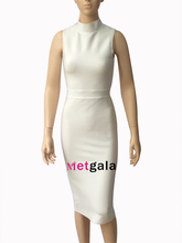 Sexy High Collar Rayon Sleeveless Midi Bandage Dress