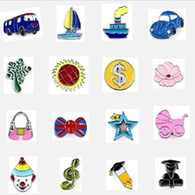 Colorful World Wonderful Life 8mm Enamel Slide Charms For DIY Keychain Bracelet Necklace Jewelry Making