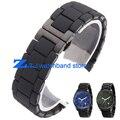 Резиновый ремешок для часов силиконовый браслет браслет черный стальной черный силикагель для AR5921 AR5922 человек 23 мм женщина 20 мм часы ремешок группа