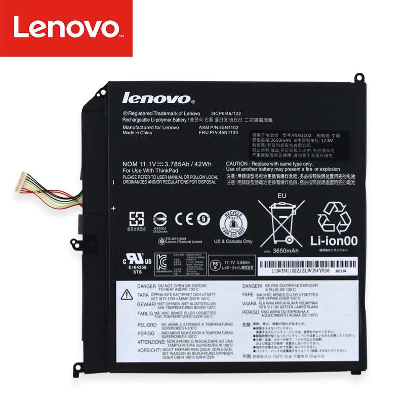 Original Laptop battery For Lenovo ThinkPad X1 helix 45N1102 45N1103 Built-in battery 11.1V character silver product s925 pure silver new mark antique watch authentic thai contracted female model