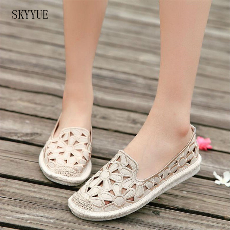 Summer Flat Shoes Slip On Flats Fisherman Shoes Woman Casual Women Comfortable Sapato Feminino Flat Shoes women s shoes 2017 summer new fashion footwear women s air network flat shoes breathable comfortable casual shoes jdt103