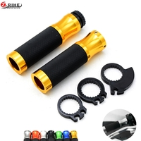 Universal 22mm 7 8 Motorcycle Handlebars Hand Grips With Palm Rest Throttle Assist For Honda CBR