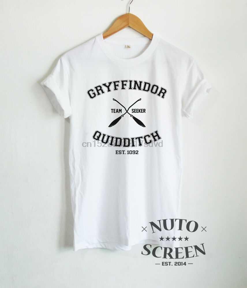 Nhà Gryffindor Quidditch Áo Đội Tuyển Người Đi Tìm Áo Quần Áo Unisex TEE 2019 Mới Nhất Nam In Hình Áo Thun Cotton 3D Áo Thun
