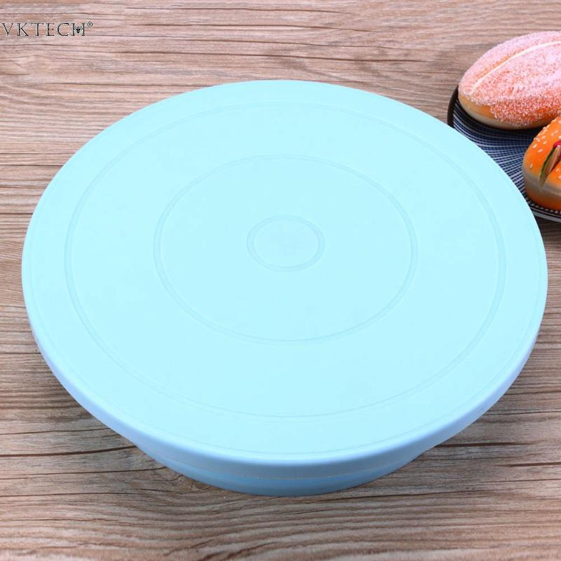 Plastic Round Cake Stand Turntable Rotating Cake Stand Plate