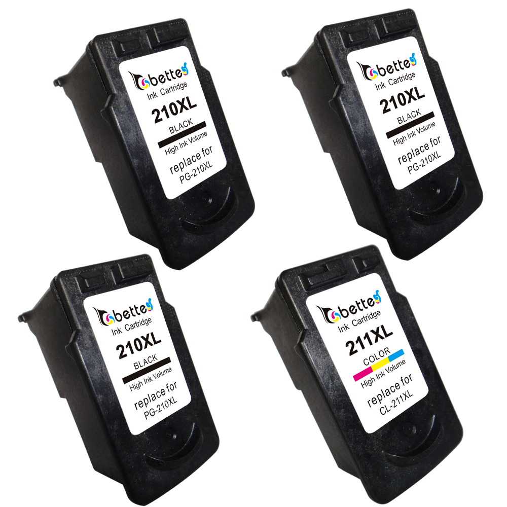 4PK PG210 CL211 Ink Cartridges For Canon PG 210 CL 211 XL Printer PIXMA IP2700 IP2702 MP240 MP250 MP270 MP280 MX350 MX410 MX420 In From