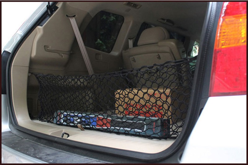 HOT New Car Nylon Elastic Mesh Net Car hatchback Rear Luggage Cargo Trunk Storage Organizer 14