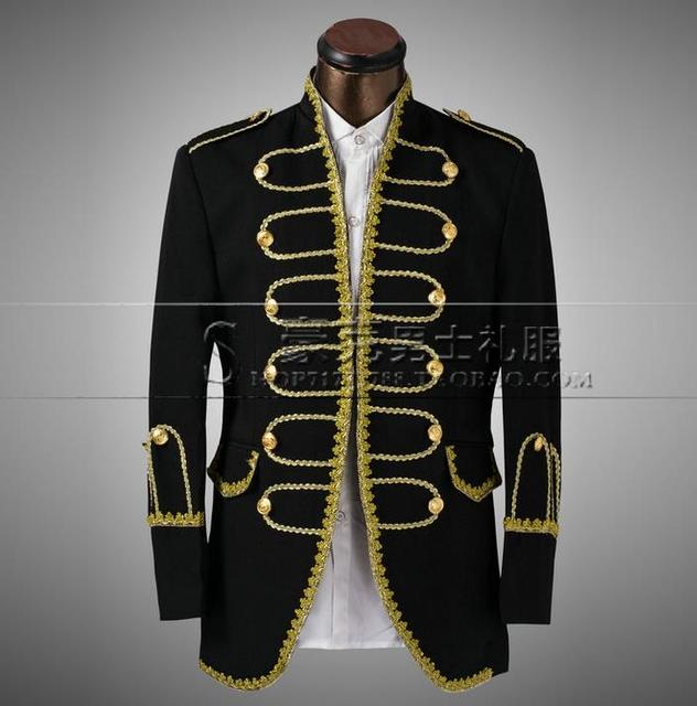 Men's Slim Fit Groom Tuxedos Suit Jacket and Pants for Wedding Gold and Black Bespoke Tailor Made Custom Made