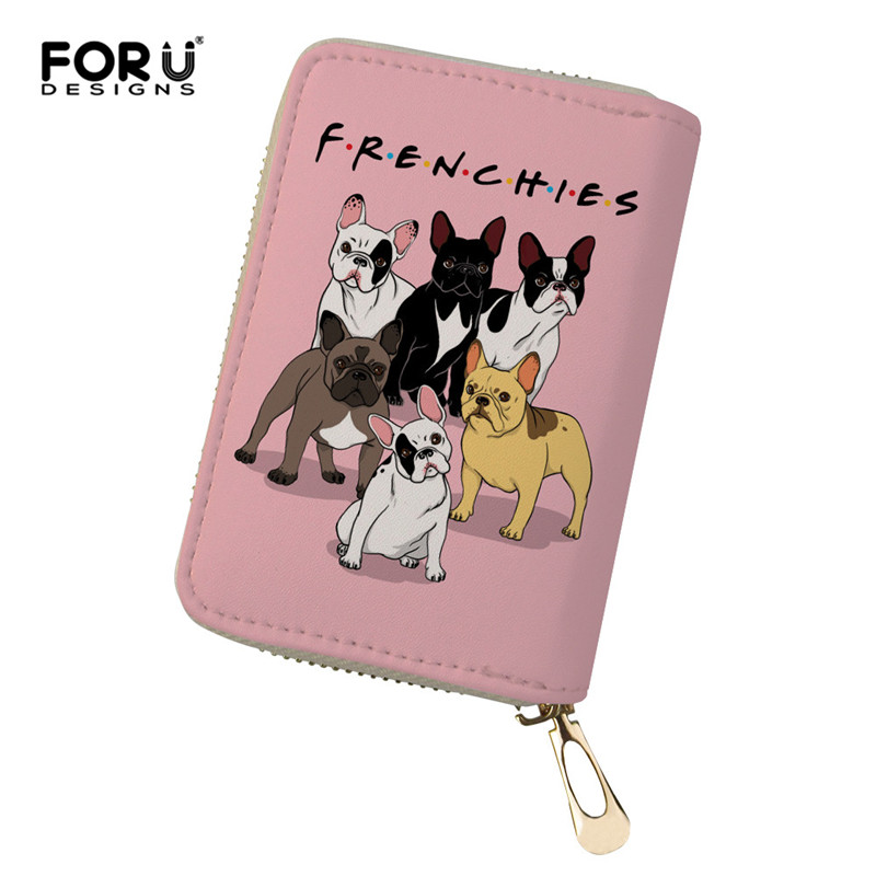 Forudesigns Französisch Bulldog Drucken Karte Tasche Mädchen Fahrer Lizenz Tasche Id Kreditkarte Halter Fall Business Leder Karte Taschen Ausgezeichnet Im Kisseneffekt