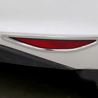 Free Shipping High Quality ABS Chrome Rear Fog Lamps Cover Trim Fog Lamp Shade Trim For