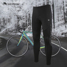 Santic Men Cycling Long Padded Pants Winter 4D Cushion Pad Reflective Thermal Keep Warm Asian M-3XL K7MB018