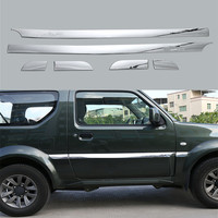 Sosung 6Pcs Set Exterior Car Side Door Edge Protection Decoration Strip Sticker Cover Trim Styling For