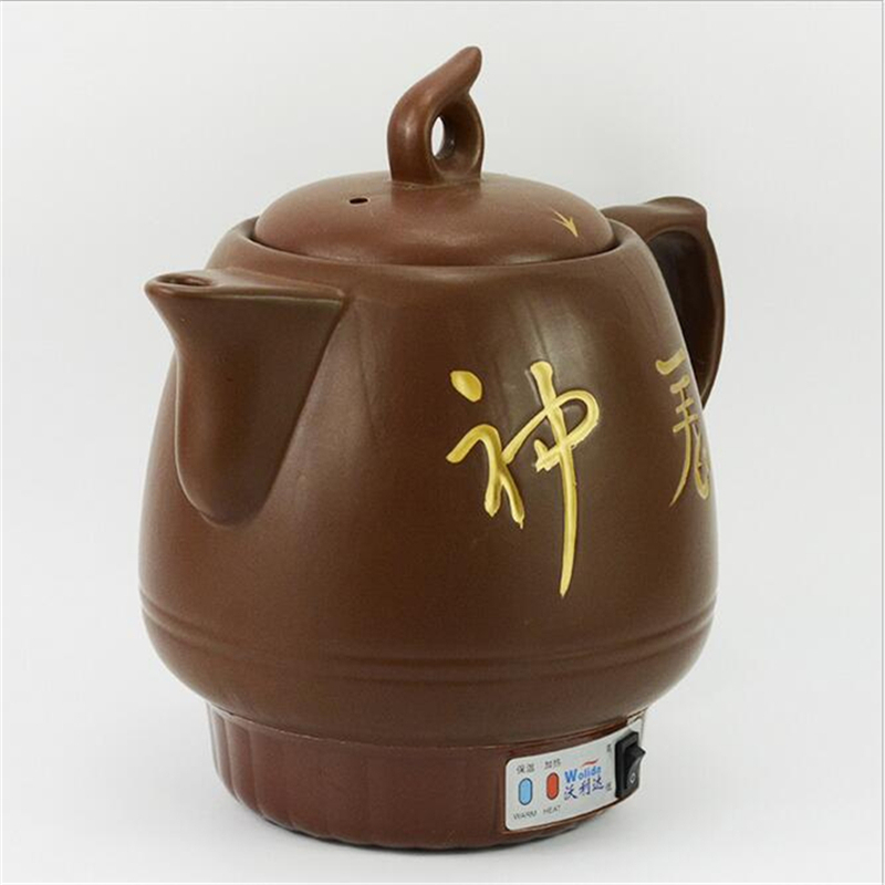 220V 4L Multifunction Ceramic Electric Kettle Tea Pot Water Kettle Traditional Chinese Medicine Decocting Pot Free Shipping licorice piece ningxia licorice tea lung chinese traditional medicine astragalus codonopsis 100g