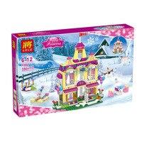 390 Pcs Friends Model Building Blocks Kit Princess Anna Ice Castle 37007 Figure Classic Eductional LegoINGlys