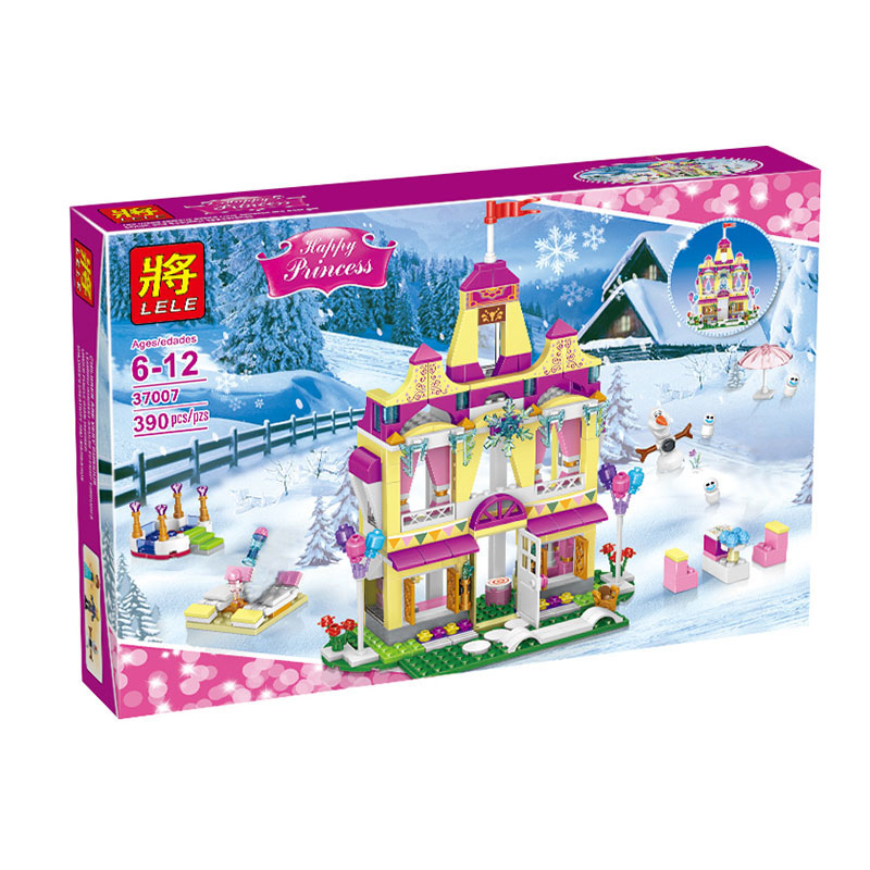 Friends Series Model Building Blocks Kit Princess Anna Ice Castle Figure Educational Compatible LegoINGlys Toy for Girl 390 Pcs new 37008 561pcs girl friends princess anna and the princess castle building kit blocks bricks toys for children gift brinquedos