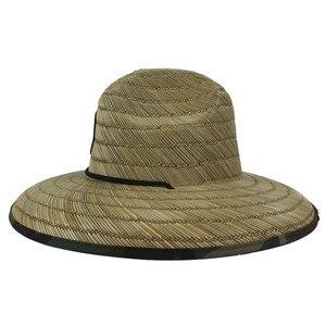 Image 5 - Paglia naturale Del Tessuto Bagnino Cappello Per Gli Uomini Spiaggia cappello del Sole Allaperto Tesa Larga Camouflage Cappello Panama Taglia 58 59 CM
