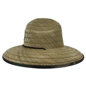 Image 5 - Sombrero salvavidas de tejido de paja Natural para hombre, sombrero de Sol de playa, ala ancha, Camuflaje, Panamá, talla 58 59CM