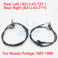 1 Set 2 pcs ABS Wheel Speed Sensor Rear Right and Rear Left for Mazda Protege 97-98 B21J-43-71Y B21J-43-72Y