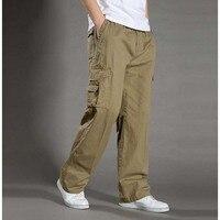 Dos homens Calça Casual Plus Size XXL XXXXL 6XL Macacão Nova Chegada do Exército Tático Militar Carga Calças Homem Calças