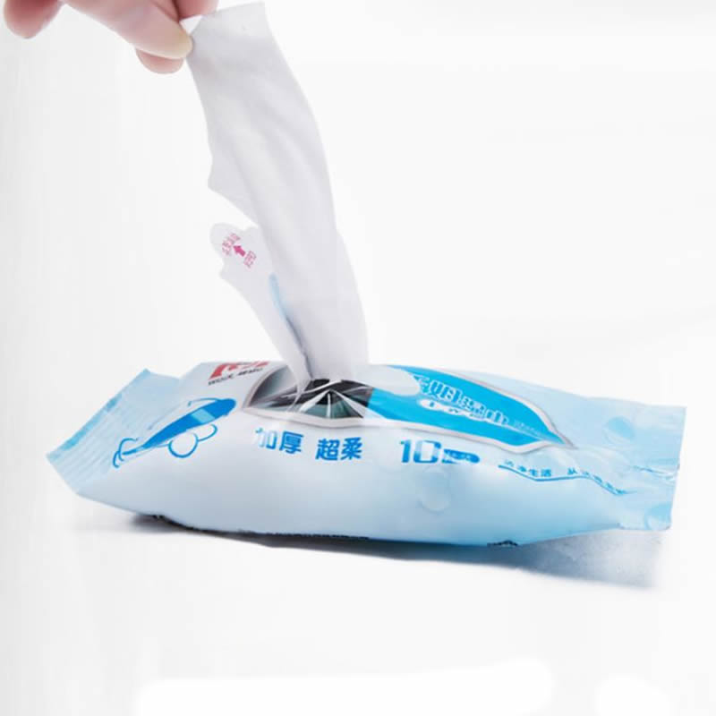 1Bag(10pcs) Disposable Wet Wipes Leather Shoes Sandals Cleaning Tissue Portable New