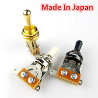 1 Stück 3-way Gitarre Pickup Selector Kippschalter Chrom Schwarz Gold MADE IN Japan