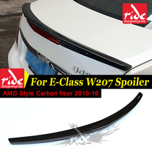 цена на W207 AMG Style Spoiler For Mercedes Benz E Class W207 2010-2016 E200 E250 Tail Rear Trunk Spoiler Wing Carbon Fiber Car Styling