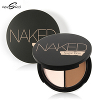 Professional Face Makeup Two Color Bronzer Highlighter Powder Trimming Powder Make Up Cosmetic Brand Sugar Box