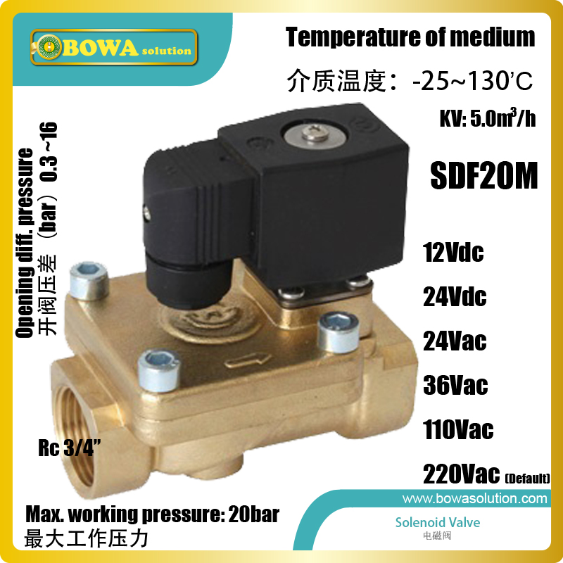 Water Solenoid Valves with Rc3/4 connection are used as actor of fire control system or water spray system pressure operated water valves are used for regulating the flow of water in refrigeration plants with water cooled condensers