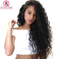 Loose Wave Glueless Full Lace Front Human Hair Wigs For Women 250% Brazilian Virgin Hair 13x4 Lace Closure Wig Black Rosa Queen