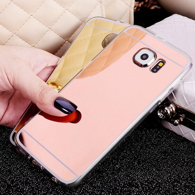 Ny ankomst spegel Soft Case Silikon Skyddande TPU Bak Skydd För - Reservdelar och tillbehör för mobiltelefoner - Foto 1