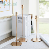 Miz 1 Piece Metal Candle Holders Home Decoration Ornament Candle Stand Detachable Pillar Candle Holder