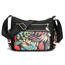 Floral bolsa de ombro novo 2019 fresco crossbody saco para as mulheres estilo rural à prova água lazer ou bolsa viagem moda hobos mensageiro