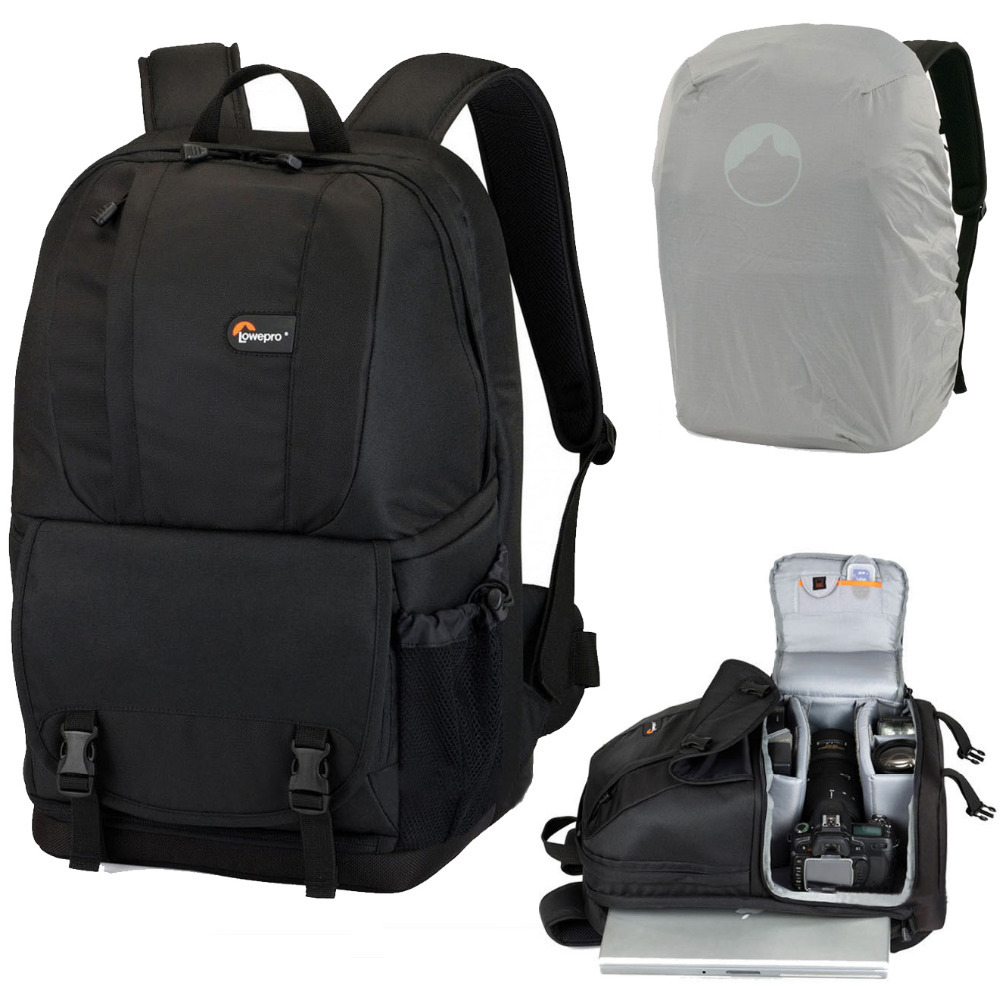 New Lowepro Fastpack 250 Photo Dslr Camera Bag Digital Slr Backpack Laptop 15 4 With All Weather Cover Whole In Video Bags From Consumer