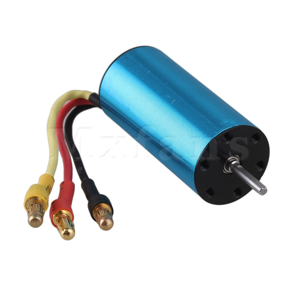 цены  Mxfans 2040 4800KV Alloy Blue Brushless Motor for HSP 1:16 LargeFoot Car