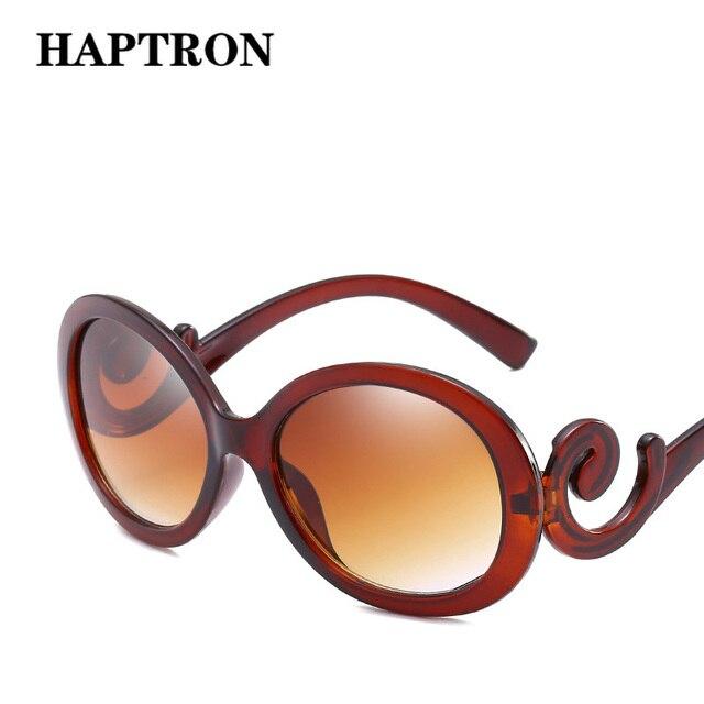 Gafas De Sol ovaladas grandes HAPTRON mujer Vintage gradiente marca diseñador gafas De Sol Retro De los años 90 señoras Oculos De Sol negro blanco rojo