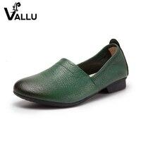 Latest Leather Flats Ladies Soft Flat Shoes Women Genuine Leather Slip On Soft Handmade Comfortable Women