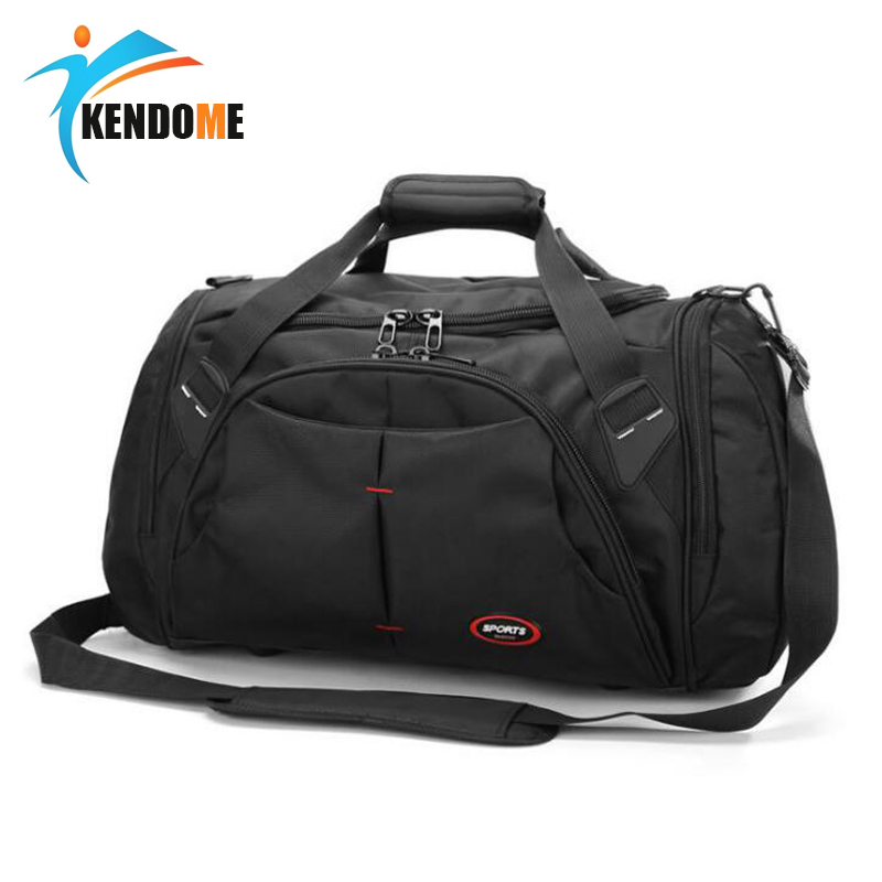 Top Quality Large Size Waterproof Outdoor Sports Training Handbag Gym Bag Men Women Independent Shoes Storage Shoulder Bag top quality nylon outdoor male sport bag new women gym shoulder bag traveling storage handbag for men fitness sports bag