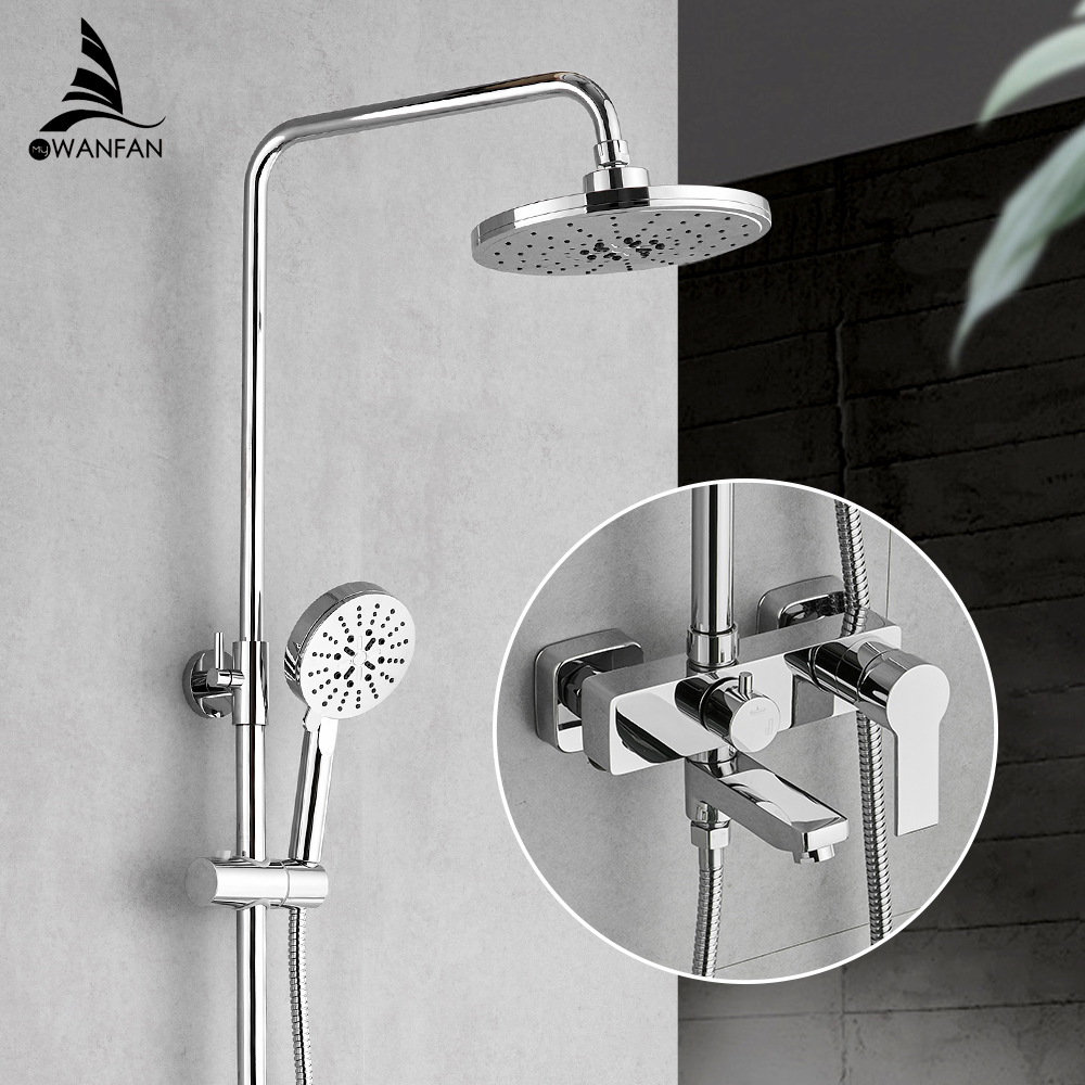 Bathroom Shower Faucet Set Bathtub Faucets Shower Mxer Tap Bath Shower Taps Waterfall Shower Head Wall Mixer Torneira Tap 877007Bathroom Shower Faucet Set Bathtub Faucets Shower Mxer Tap Bath Shower Taps Waterfall Shower Head Wall Mixer Torneira Tap 877007
