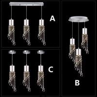 220 v led מודרני אופנה careative 3 ראש זכוכית crsyal טיפת אור, לבן/לבן חם מנורה מקורה