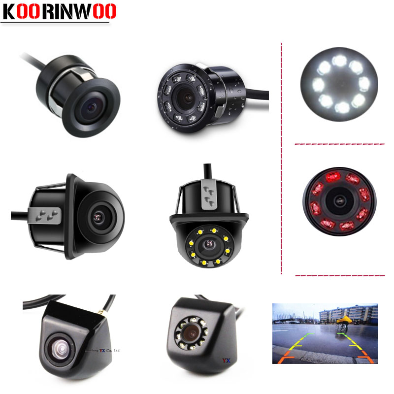 Koorinwoo Wireless Universal HD CCD Car Rear View Camera IP68 Night Vision 8 LED Infrared Lights Backup Parking Assist Reverse