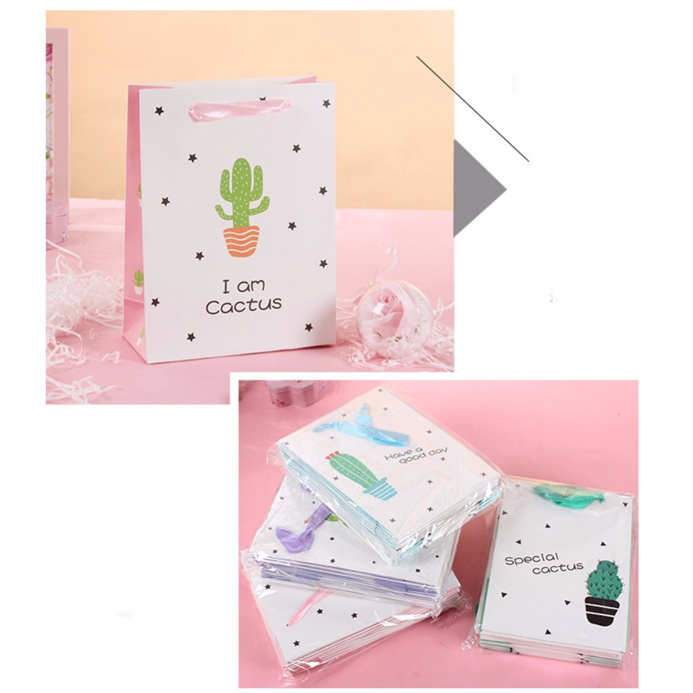 12Pcs Gift Bag Favor Box Cactus Candy Box Birthday Themed Party ...
