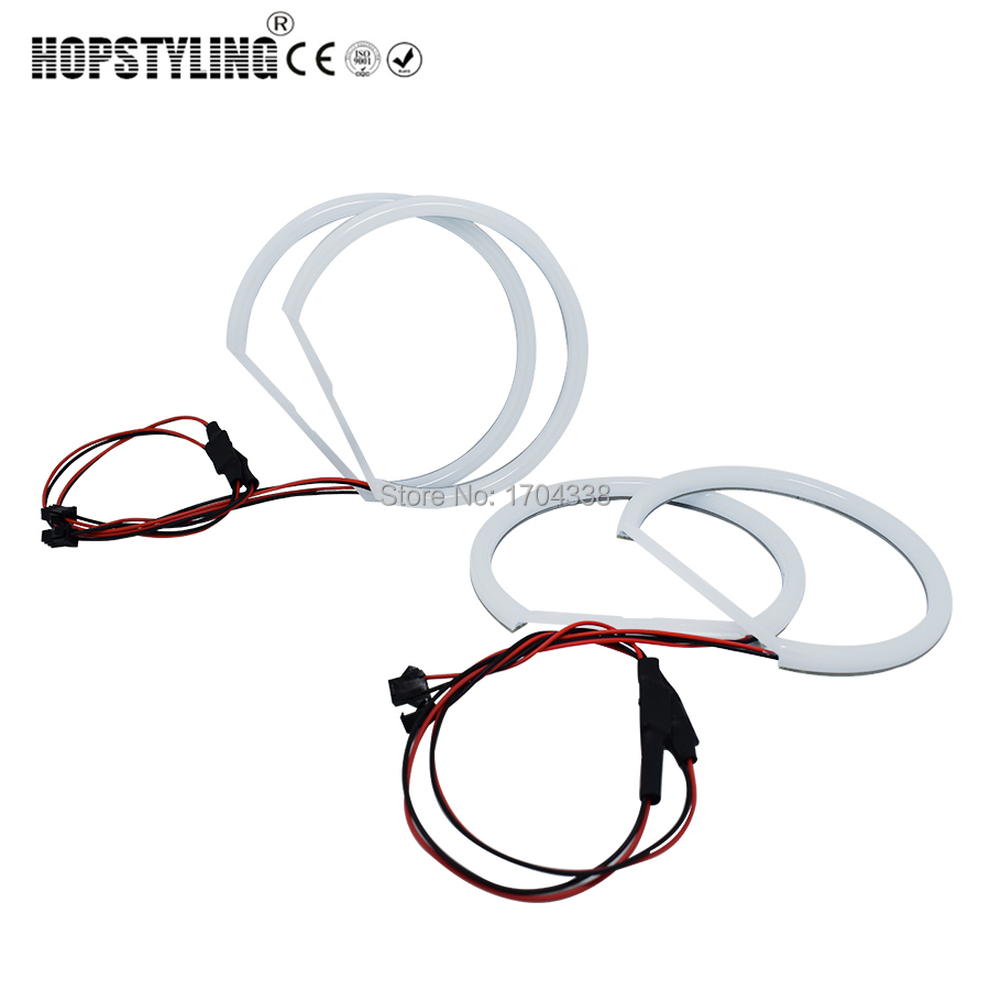 Hopstyling SMD LED Angel Eyes 4x131mm led For BMW Angel Eye Halo Cotton Light LED SMD E36 E38 E39 E46 Projector Car-styling cotton smd led angel eyes rings for bmw e38 e36 e39 e46 smd led halo rings kit for e46 with projector 4 131mm led smd angel eyes