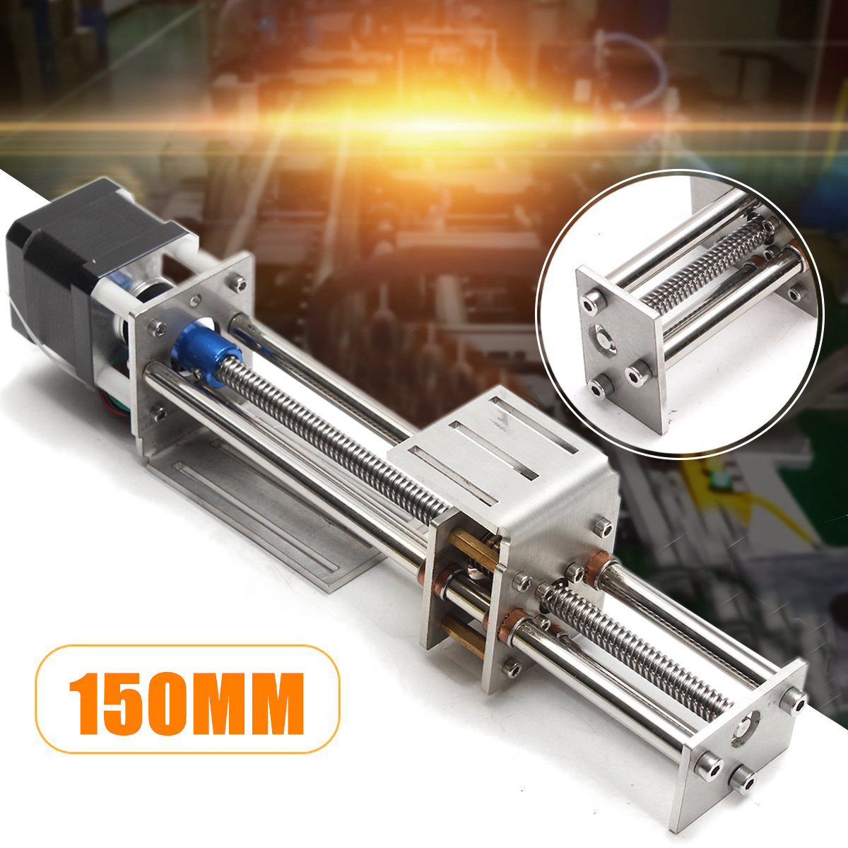 Mini 150MM CNC Z Axis Slide DIY Linear Motion Milling 3 Axis Engraving Machine With a Stepper Motor For Reprap Engraving Machine funssor 50mm 150mm slide stroke cnc z axis slide linear motion nema17 stepper motor for reprap engraving machine