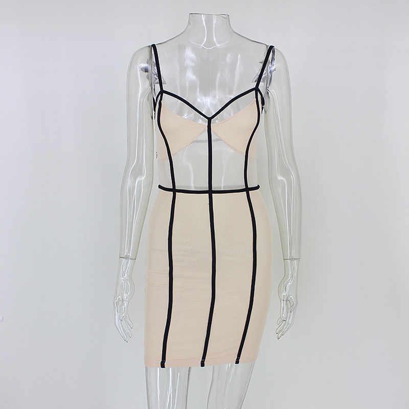 13ba54afb5d46 DRESSMECB Summer Cross Backless Spaghetti Strap Short Skater Party Dresses  Women Package Hip Sleeveless Mini Dress Vestidos