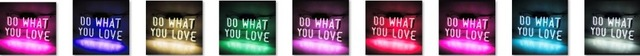 Custom DO WHAT YOU LOVE Blue White Red Pink Deep blue Purple Turquoise Green Yellow Glass Neon Light Beer Bar 5