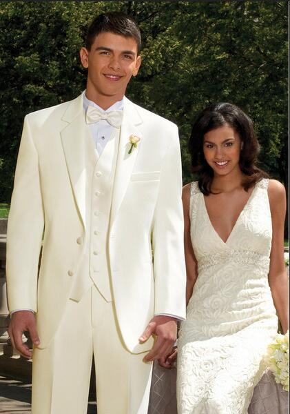 Popular ivory men suit buy cheap ivory men suit lots from for Mens ivory dress shirt wedding